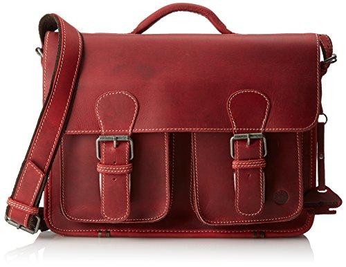 bolso de trabajo profesora de cuero Rojo Greenburry A4