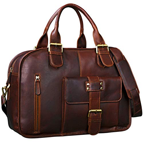 bolso maletín de trabajo profesora de cuero Rojo Stilord Dominique