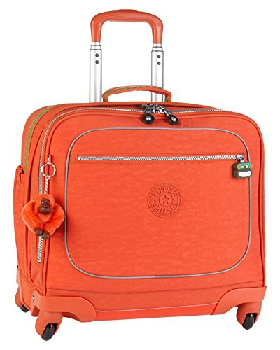 kiplink mochila con ruedas para portátil naranja para mujer de viaje