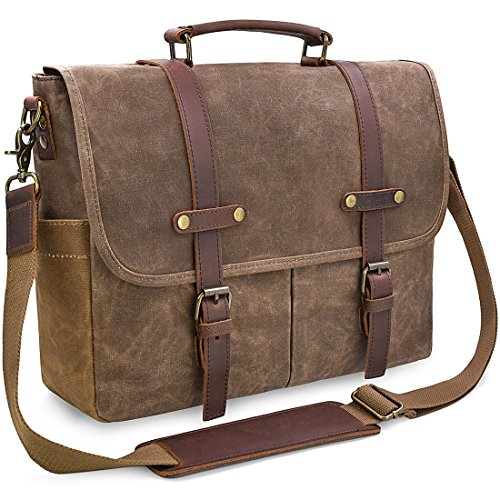 Mochila bandolera Lifewit para trabajar, para portatil, estudiante o profesor, vintage barata